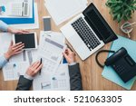business team working at office ... | Shutterstock . vector #521063305