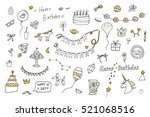 birthday objects vector... | Shutterstock .eps vector #521068516