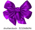 Image Of A Purple Bow Of Satin...
