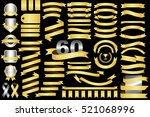 60 retro gold ribbons and... | Shutterstock .eps vector #521068996