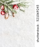 christmas decoration. branch... | Shutterstock . vector #521069245