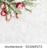 christmas decoration. branch... | Shutterstock . vector #521069272