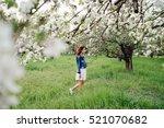 young pretty caucasian woman in ... | Shutterstock . vector #521070682