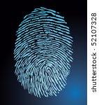 fingerprint vector | Shutterstock .eps vector #52107328