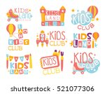 kids land playground and... | Shutterstock .eps vector #521077306