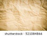 Brown Creased Paper Background...