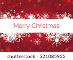 christmas greeting card.... | Shutterstock .eps vector #521085922