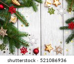 christmas fir tree with... | Shutterstock . vector #521086936