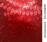 red christmas background with... | Shutterstock .eps vector #521106898