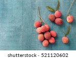 Lychee On A Wooden Background....