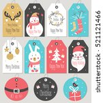set of merry christmas and new... | Shutterstock .eps vector #521121466