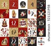 vector christmas advent...   Shutterstock .eps vector #521121958