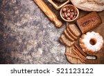 fresh bread still life bakery... | Shutterstock . vector #521123122