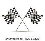 racing flags isolated on white | Shutterstock .eps vector #52112329