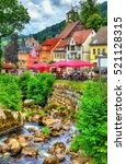 the gutach river in triberg im... | Shutterstock . vector #521128315