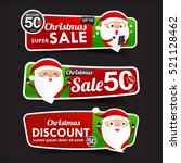 collection of christmas sale... | Shutterstock .eps vector #521128462