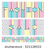 geometrical color latin font ... | Shutterstock .eps vector #521128522