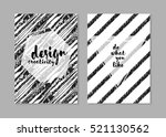hipster cards with geometric... | Shutterstock .eps vector #521130562