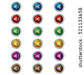 glossy button sound icons   Shutterstock .eps vector #521133658
