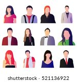 Set Of People Icons. Vector...