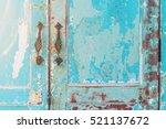 vintage style old house door... | Shutterstock . vector #521137672