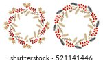 christmas wreath isolated on... | Shutterstock .eps vector #521141446