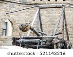 medieval catapult in ancient...