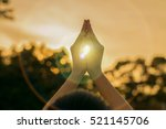 silhouette people pray from... | Shutterstock . vector #521145706