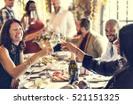 restaurant chilling out classy... | Shutterstock . vector #521151325