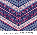 Striped  vector seamless pattern with ethnic and tribal motifs, zigzag lines,  summer fall fashion . | Shutterstock vector #521152072