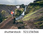 laugavegurinn hiking trail   Shutterstock . vector #521156566