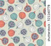 seamless pattern with figs. | Shutterstock .eps vector #521160778