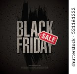 black friday sale banner | Shutterstock .eps vector #521161222