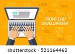 front end development  web... | Shutterstock .eps vector #521164462