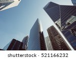 skyscrapers with glass facade.... | Shutterstock . vector #521166232