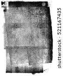 black letterpress ink texture | Shutterstock . vector #521167435