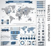 oil industry icon set and... | Shutterstock .eps vector #521170846