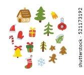 merry christmas pattern | Shutterstock .eps vector #521173192