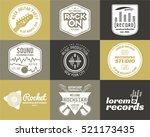 set of music production logo... | Shutterstock . vector #521173435