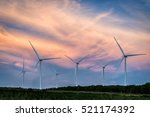 wind turbines in beautiful... | Shutterstock . vector #521174392