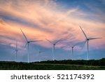 Wind Turbines In Beautiful...