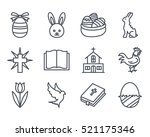 easter holiday icon outlined... | Shutterstock .eps vector #521175346