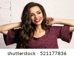 young beautiful gorgeous female ... | Shutterstock . vector #521177836
