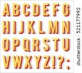 retro type font  vintage... | Shutterstock .eps vector #521177992