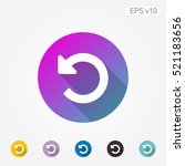 colored icon of refresh or... | Shutterstock .eps vector #521183656