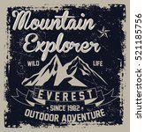 mountain explorer  outdoor... | Shutterstock .eps vector #521185756