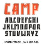 sanserif font in sport style...   Shutterstock .eps vector #521186536