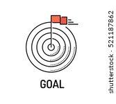 goal line icon | Shutterstock .eps vector #521187862