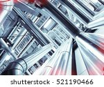 equipment  cables and piping as ...   Shutterstock . vector #521190466