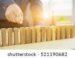 man hand pick one from many...   Shutterstock . vector #521190682